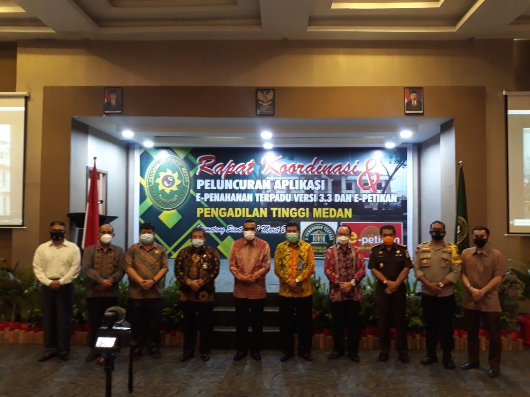 Pelaksanaan Rakor Sewilayah PT Medan dan Peluncuran Aplikasi E-Penahanan dan E-Petikan di Hotel Horison