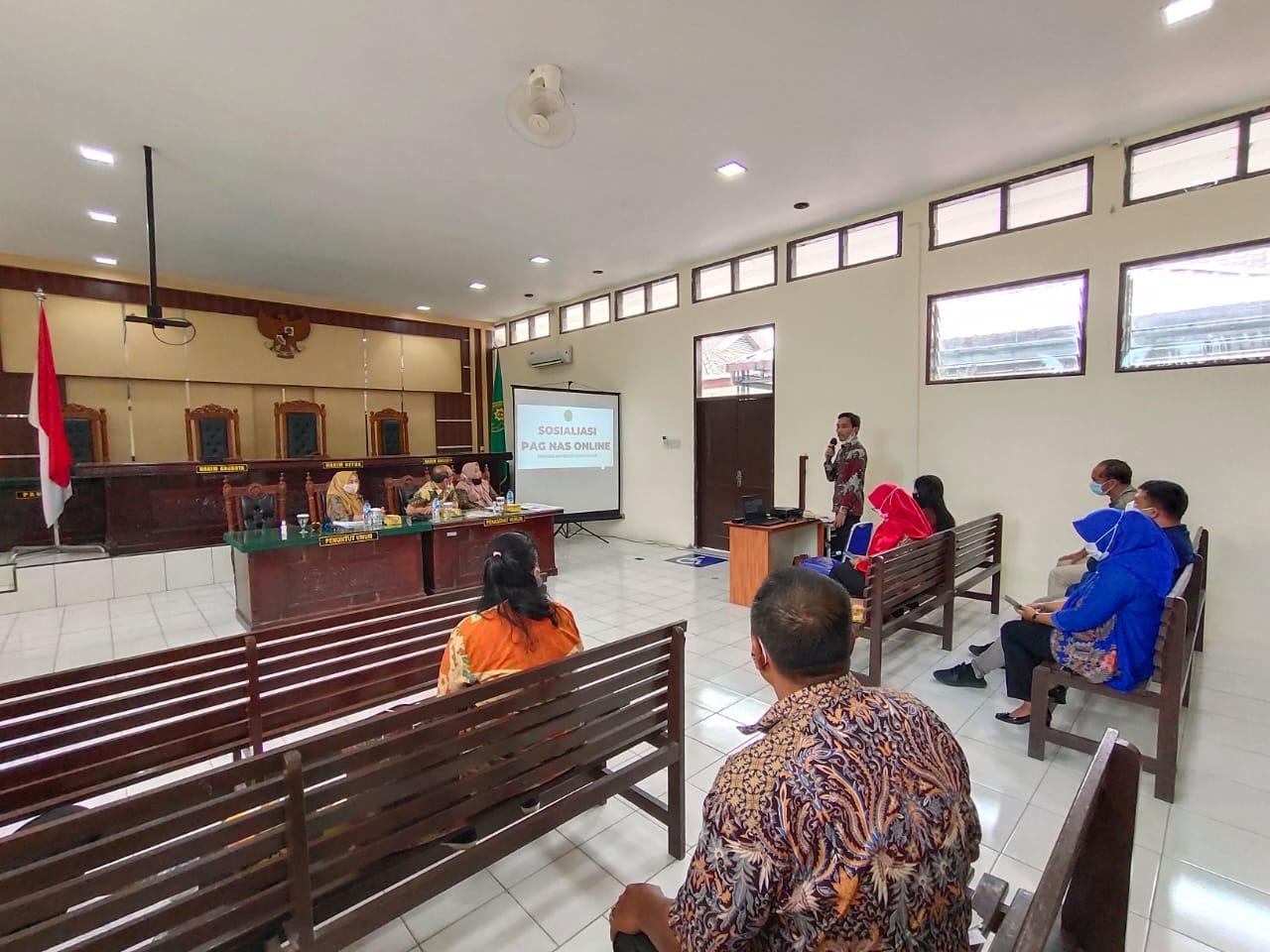 Rapat Sosialisasi Inovasi PAG NAS Online Pengadilan Negeri Simalungun
