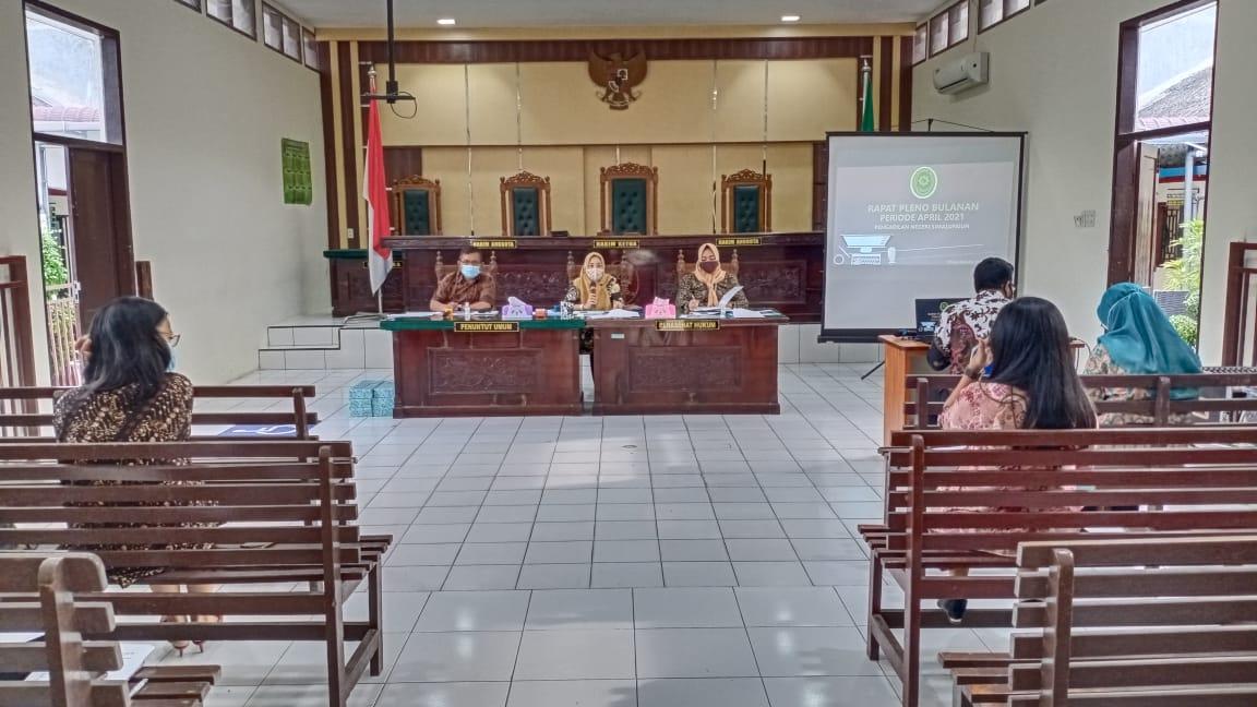 Rapat Pleno Bulanan Periode April 2021
