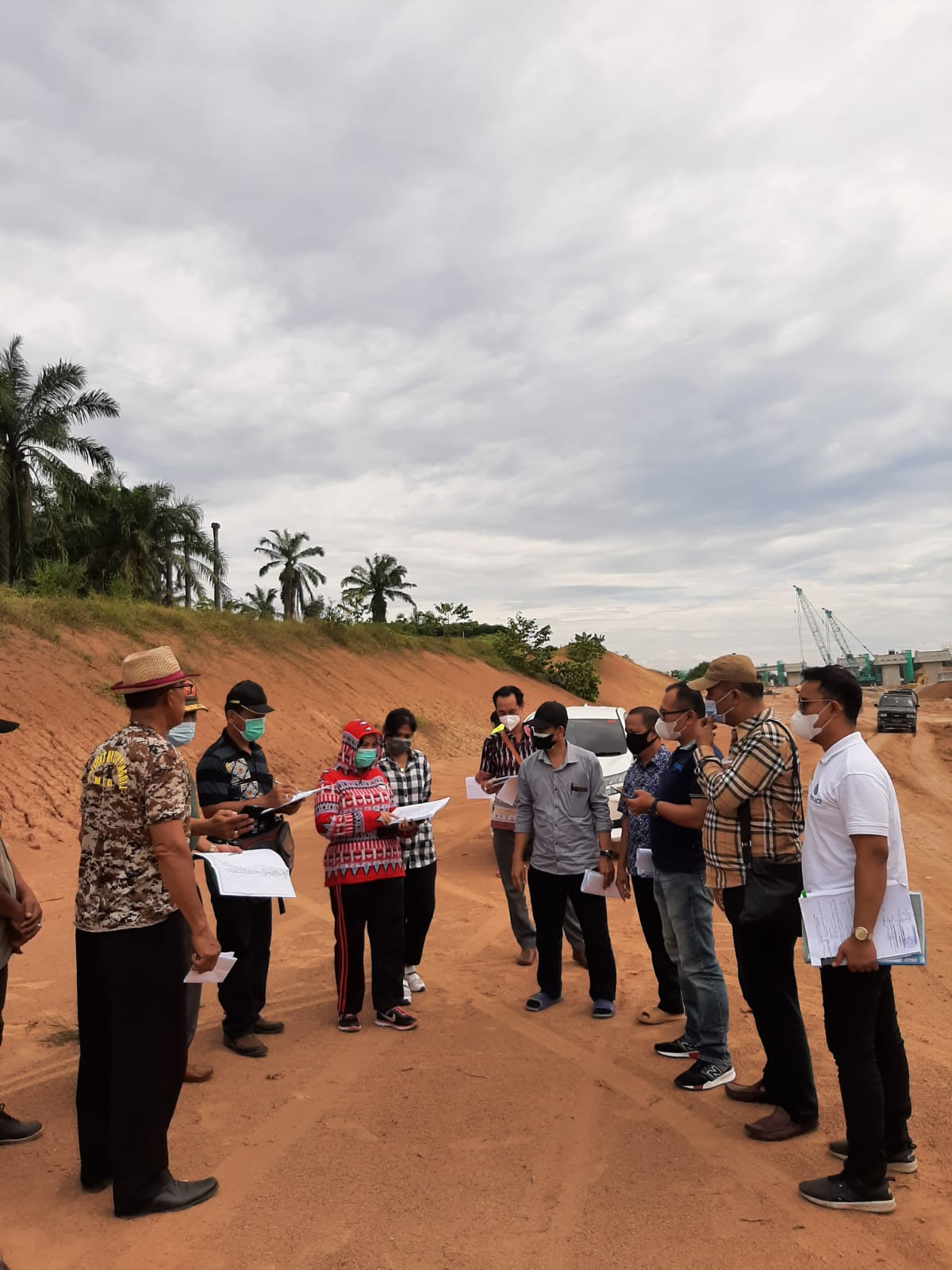 Pengadilan Negeri Simalungun Melakukan Pemeriksaan Setempat di Desa Bandar Tinggi, Kec. Bandar Masilam, Kabupaten Simalungun